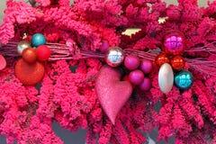 Corazón de la Navidad Imagen de archivo libre de regalías