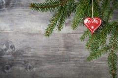 Corazón de la Navidad Fotos de archivo