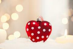 Corazón de la Navidad Fotografía de archivo