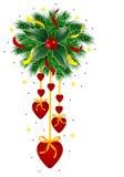 Corazón de la Navidad stock de ilustración