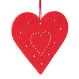 Corazón de la Navidad en blanco Imágenes de archivo libres de regalías