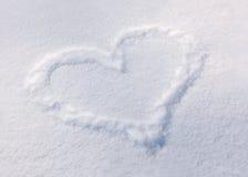 Corazón de la nieve Fotos de archivo