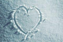Corazón de la nieve Fotografía de archivo