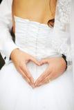 Corazón de la novia Fotografía de archivo libre de regalías