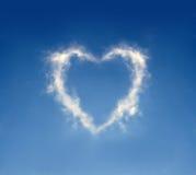 Corazón de la nube Imagen de archivo libre de regalías