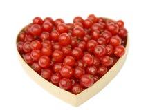 Corazón de la pasa roja Fotos de archivo libres de regalías