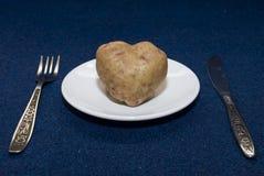 Corazón de la patata Fotografía de archivo libre de regalías