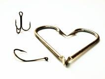 Corazón de la pesca foto de archivo libre de regalías