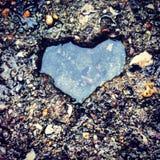 Corazón de la piedra Fotos de archivo libres de regalías