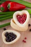 Corazón de la pimienta Foto de archivo