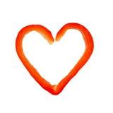 Corazón de la pimienta fotografía de archivo libre de regalías