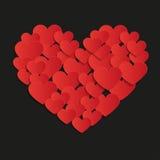 Corazón de la pintura - ejemplo,  Fotos de archivo