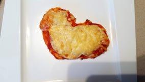 Corazón de la pizza Foto de archivo libre de regalías