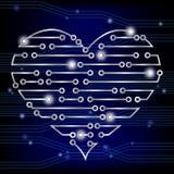 Corazón de la placa de circuito Fotografía de archivo libre de regalías