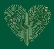 Corazón de la placa madre ilustración del vector