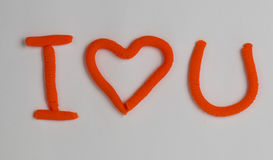 Corazón de la plastilina Fotografía de archivo libre de regalías