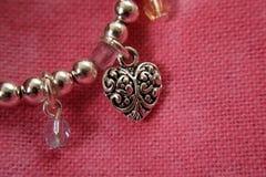 Corazón de la plata esterlina imagen de archivo
