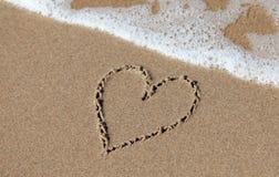 Corazón de la playa Foto de archivo libre de regalías