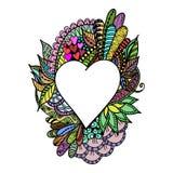 Corazón de la postal ilustración del vector