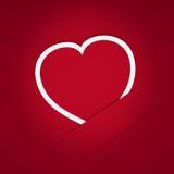 Corazón de la postal de papel Foto de archivo libre de regalías