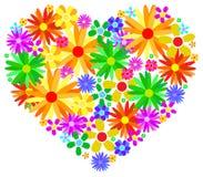 Corazón de la primavera Foto de archivo libre de regalías