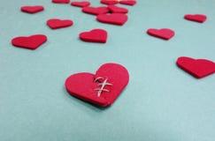 Corazón de la puntada Imagen de archivo