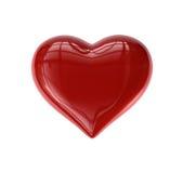 Corazón de la sola tarjeta del día de San Valentín Imagen de archivo libre de regalías