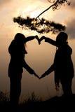 Corazón de la sombra Fotos de archivo libres de regalías