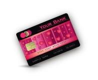 Corazón de la tarjeta de crédito del amor Fotografía de archivo libre de regalías