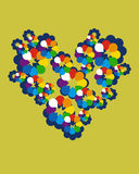 Corazón de la tarjeta de felicitación del vector Fotografía de archivo