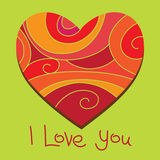 Corazón de la tarjeta del día de San Valentín Ilustración del Vector
