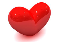 Corazón de la tarjeta del día de San Valentín Imagenes de archivo