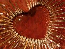 Corazón de la tarjeta del día de San Valentín Fotografía de archivo libre de regalías