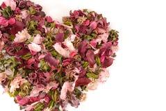 Corazón de la tarjeta del día de San Valentín Fotos de archivo