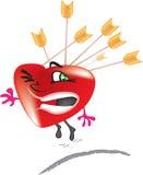 Corazón de la tarjeta del día de San Valentín Imagen de archivo libre de regalías