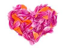 Corazón de la tarjeta del día de San Valentín Foto de archivo