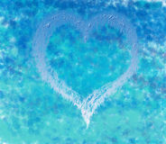 Corazón de la tarjeta del día de San Valentín Fotos de archivo libres de regalías