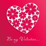 Corazón de la tarjeta del día de San Valentín Imágenes de archivo libres de regalías