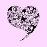 Corazón de la tarjeta del día de San Valentín abstracta Fotografía de archivo