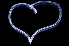 Corazón de la tarjeta del día de San Valentín azul Imagenes de archivo