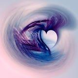 Corazón de la tarjeta del día de San Valentín de Grunge Fotografía de archivo
