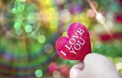 Corazón de la tarjeta del día de San Valentín de la colección de la foto Imágenes de archivo libres de regalías