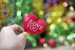 Corazón de la tarjeta del día de San Valentín de la colección de la foto Imagen de archivo