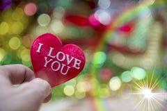 Corazón de la tarjeta del día de San Valentín de la colección de la foto Imagen de archivo libre de regalías