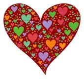 Corazón de la tarjeta del día de San Valentín del estallido del color ilustración del vector