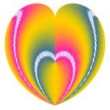 Corazón de la tarjeta del día de San Valentín en un corazón stock de ilustración