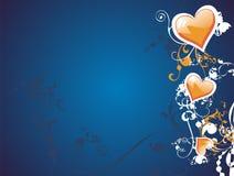 Corazón de la tarjeta del día de San Valentín floral Foto de archivo libre de regalías