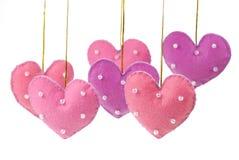 Corazón de la tela de algodón Imagen de archivo libre de regalías