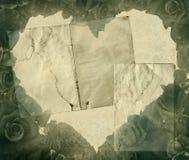 Corazón de la vendimia Imágenes de archivo libres de regalías