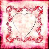 Corazón de la vendimia Fotografía de archivo libre de regalías